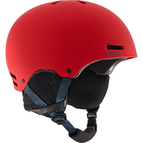 2012 Burton Mens Snowboard (Anon Men's Raider Helmet, Red, Medium)