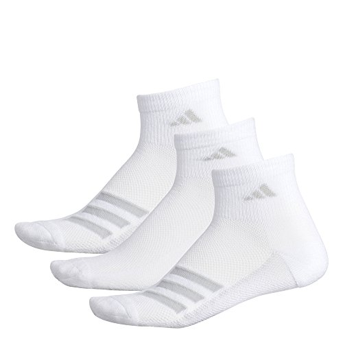Adidas Tennis Heels - adidas Socks Men's Climacool Superlite Stripe 3 Pack Quarter Socks, Grey/Clear Onix, Size 6-12