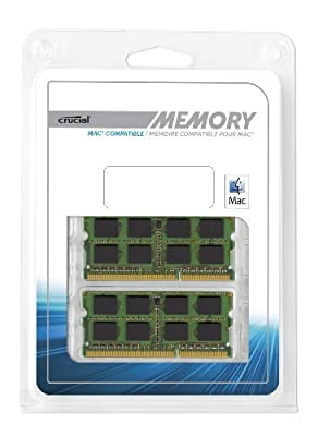 Crucial 2 GB DDR3 1333 MT/s (PC3-10600) CL9 SODIMM 204-Pin 1.35V/1.5V for Mac(CT2G3S1339M) by Cruas