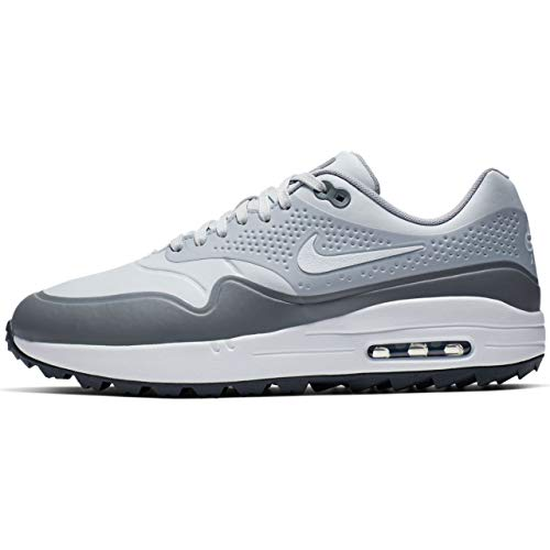 Nike Air Max 1 G Spikeless Golf Shoes 2019 Pure Platinum/White/Wolf Gray/Cool Gray Medium 9 (Best Golf Shoes For 2019)