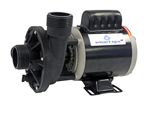 """Smart Spa Universal replacement Spa Hot Tub Circulation Pump dual voltage- 115v/230 volt -1.5"""" x 1.5"""" - OEM replacement for Aqua Flo - Circ-Master CMHP , Gecko, Waterway (Master Spa Replacement Parts)"""