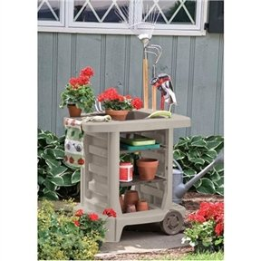 CHOOSEandBUY Outdoor Portable Potting Bench Gardening Station Utility Bin Utility New Work Gardening NFL