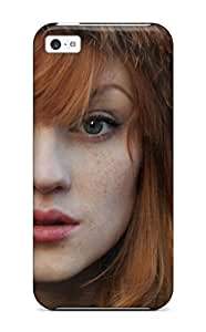 Anti-scratch And Shatterproof Redhead With Hat Phone Case For Iphone 5c/ High Quality Tpu Case