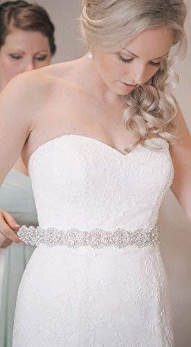 (ShiDianYi Rhinestone Applique Bridal,Bridal Sash Ivory, Wedding Sash Ivory, Ivory Wedding Sash, Rhinestone Wedding Belt, Wedding Dress Sash)