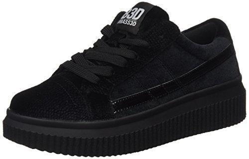 041379 Black Donna bass3d Black Sneaker Nero XHxwCd4q
