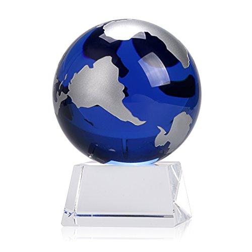 Award Crystal Globe - 8