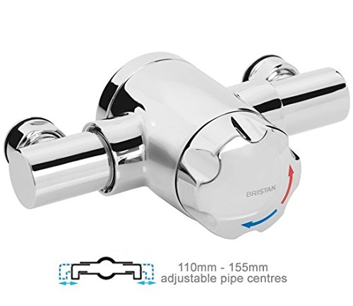 Chrome Bristan MINI2 TS1203 EH C Commercial Exposed Mini Valve with Handwheel Mixer Shower