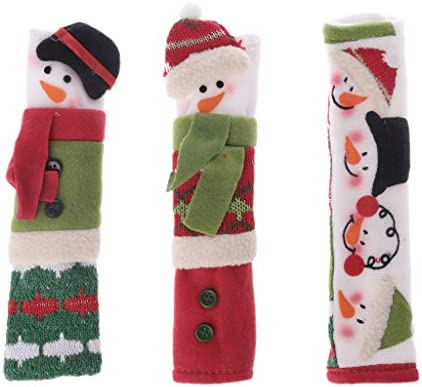 Amazon com : Yuly Newest 3pcs Snowman Christmas Refrigerator