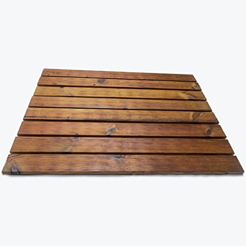Anti-Slip Roll-Out Wood Mat for Bath/Kitchen/Garden (16