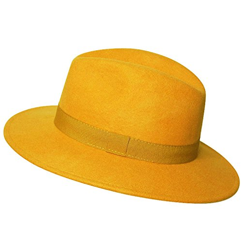 Chapeau Borsalino Moutarde Bogart Homme Chapeau-tendance