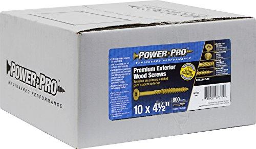 Hillman 967783 Power Pro Premium Exterior Wood Screw, 10 X 4 1/2-Inch, 800 pack by Hillman (Image #2)