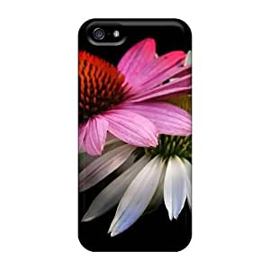 Perfect Fit SRDTCEp8327zqaKb Flowers Black Background Case For Iphone - 5/5s
