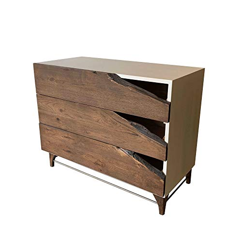 Live Edge Wood Dresser by CW Furniture Custom Reclaimed Rustic Modern White Drawer Chest of Drawers Chest Dresser Modern…