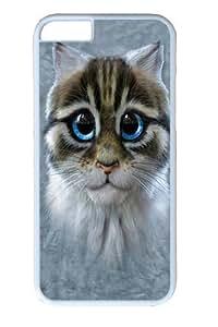 Iphone 4 4S c Hard Case White - (Denim Love Mustache)