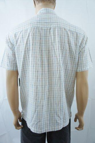 QUIKSILVER blanc léger Chemis'à carreaux à manches courtes-Femme-Taille M