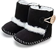 OldPAPA Unisex Baby Boots Newborn Warm Booties for Baby Boys & Girls Soft Fleece Toddler First Walkers S