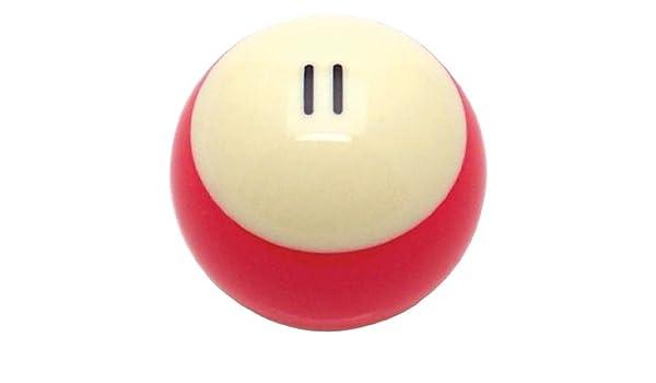 Americana Shifter 96055 rojo rayas 11 bola de billar piscina pomo ...