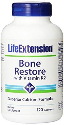 Life Extension Bone Restore with Vitamin K2, 120 vegetarian capsules
