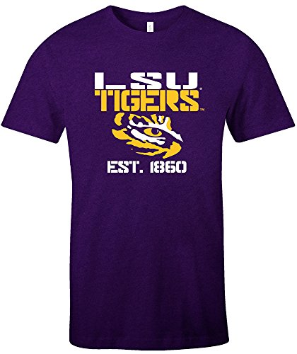 - NCAA Lsu Tigers Est Stack Jersey Short Sleeve T-Shirt, Purple,X-Large
