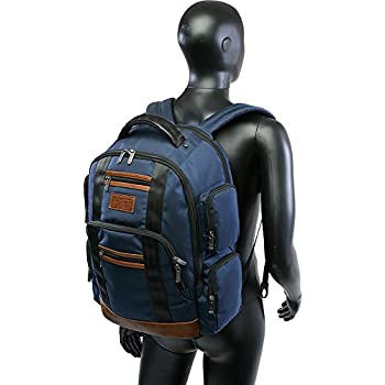 Peterson Backpack Fits Most 15-inch Laptop and Notebook, Black, One Size
