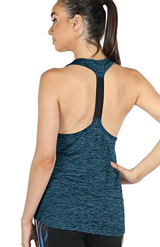 icyzone Activewear Workout Yoga Fitness Sports Racerback Tank Top