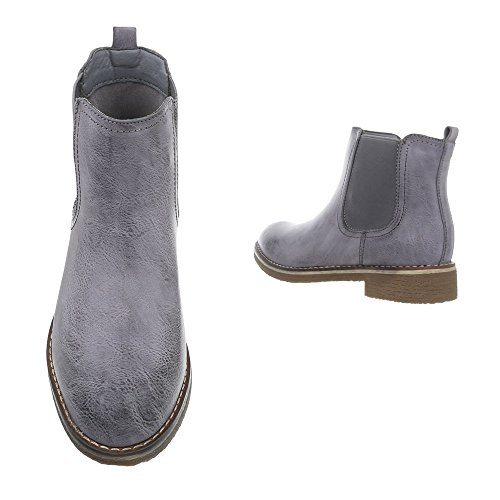 Chelsea Women Design Ital Blue Grey Boots aRE5xqw