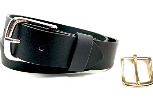 Cordovan Accessories (Simple Full Grain Black Leather Belt Custom Best Veg Tan Thick Genuine Handmade Gift USA Made)