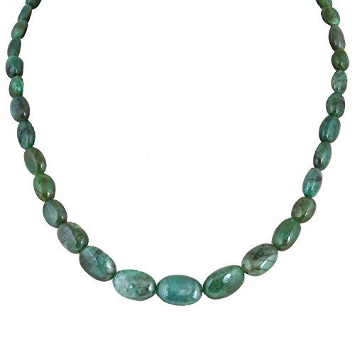 Be You 121.51cts brésilien vert émeraude naturelle pierres précieuses perles ovales lisses 16 pouces 1 ligne brin lâche