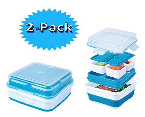 UPC 700646872053, Cool Gear Ez-freeze® Collapsible Bento Box (2-Pack)