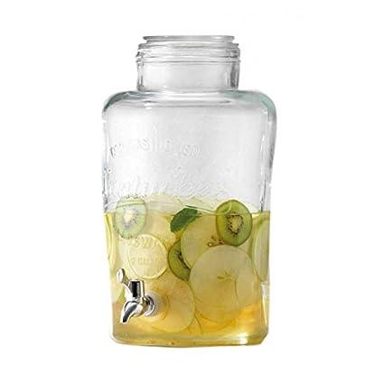 Shanley Homewares Dispensador de Bebidas de Cristal, Vidrio, Transparente, 7 L