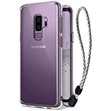 Galaxy S9 Plus Case, Ringke [FUSION] Ergonomic Crystal Transparent [Drop Defense] PC Back Drop Protection Shock Absorption Technology Cover with Wrist Strap for Samsung Galaxy S9 Plus 2018 - Clear