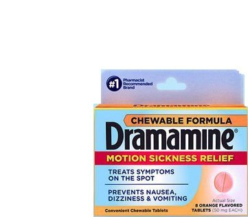 Dramamine Chewable Motion Sickness Relief, 8 Tablets Each (Pack of 7) ()