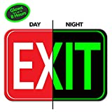 Photoluminescent EXIT Sign | Glows for Up to 10