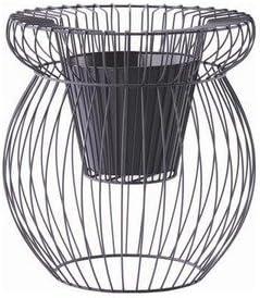フラワーバスケット/植木鉢カバー スケルトンα 高さ60cm アイアン&樹脂製ポット 穴無 パープル(紫) 〔ガーデニング用品/園芸〕 SIS KTEC-cSIS1-ds-1541970 [並行輸入品]