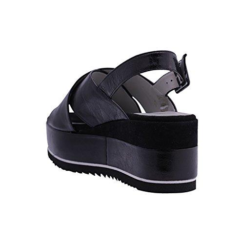 pour Femme Carmens Noir Femme Noir pour Sandales Carmens Sandales nw60HqY