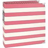 "Simple Stories Snatp! Striped Designer Binder, 6"" x 8"", Pink"