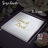 Wedding Guest Book Silver Guestbook - Blank NO