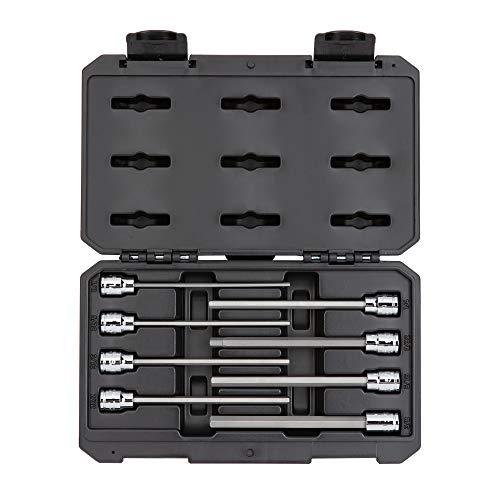 - TEKTON 3/8 Inch Drive Long Hex Bit Socket Set, 8-Piece (1/8-3/8 In.) SHB91301
