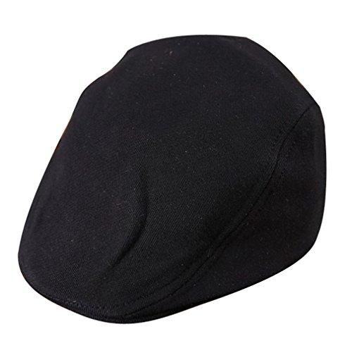 Pour Casquette 52 Tour Acvip Chapeau Enfant Noir De Plate Fille Couleurs Cm 5 Coton Béret Garçon 50 En Tête 0xq6qp5w