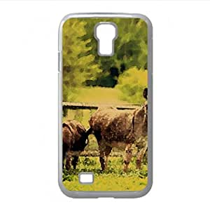 Donkeys Watercolor style Cover Samsung Galaxy S4 I9500 Case (Horses Watercolor style Cover Samsung Galaxy S4 I9500 Case)