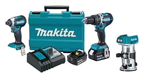 Makita XT269M 18V LXT Lithium-Ion Brushless Cordless 2-Pc. Combo Kit (4.0Ah) with XTR01Z 18V LXT Lithium-Ion Brushless Cordless Compact Router