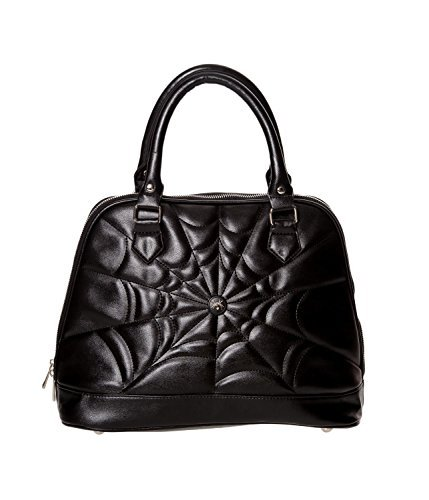 Spider Malice Black Handbag Gothic Rockabilly Banned Apparel Web nwfS8xpI6q