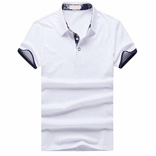 リベラル機密口ひげ(メイク トゥ ビー) Make 2 Be メンズ カジュアル 花柄 無地 ポロシャツ 半袖 ゴルフ KB70