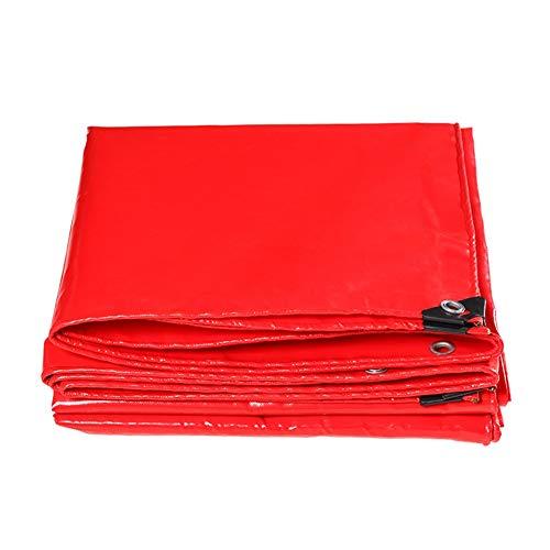 結婚シャワー完璧CHAOXIANG ターポリン サンシェード 厚い 日焼け止め 耐摩耗性 ナイフスクレーパー リノリウム PVC 厚さ0.44mm、 15サイズ、 カスタマイズ可能な (色 : Red, サイズ さいず : 3.8mx4.8m)
