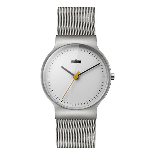 Braun Women's BN0211WHSLMHL Classic Slim Analog Display Japanese Quartz Silver Watch