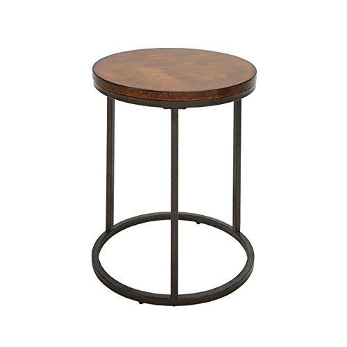 Britta 18 inch Round Thick Top Chestnut Accent Table