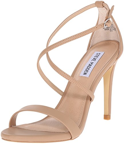 Steve Madden Women's Feliz Dress Sandal, Natural, 6.5 M US