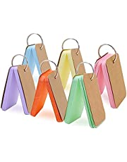 GKood 300 Pieces Multicolor Kraft Paper Binder Ring Easy Flip Flash Card Study Cards/Memo Scratch Pads/Bookmark/ DIY Greeting Card/Index Card Stock/Note Card(6 Set, 50 Sheets per Set)