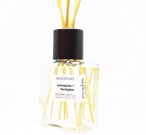Lemongrass Eucalyptus Room Diffuser Set Handmade in Virginia, U.S.A