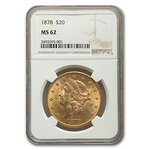 1878 $20 Liberty Gold Double Eagle MS-62 NGC G$20 MS-62 NGC